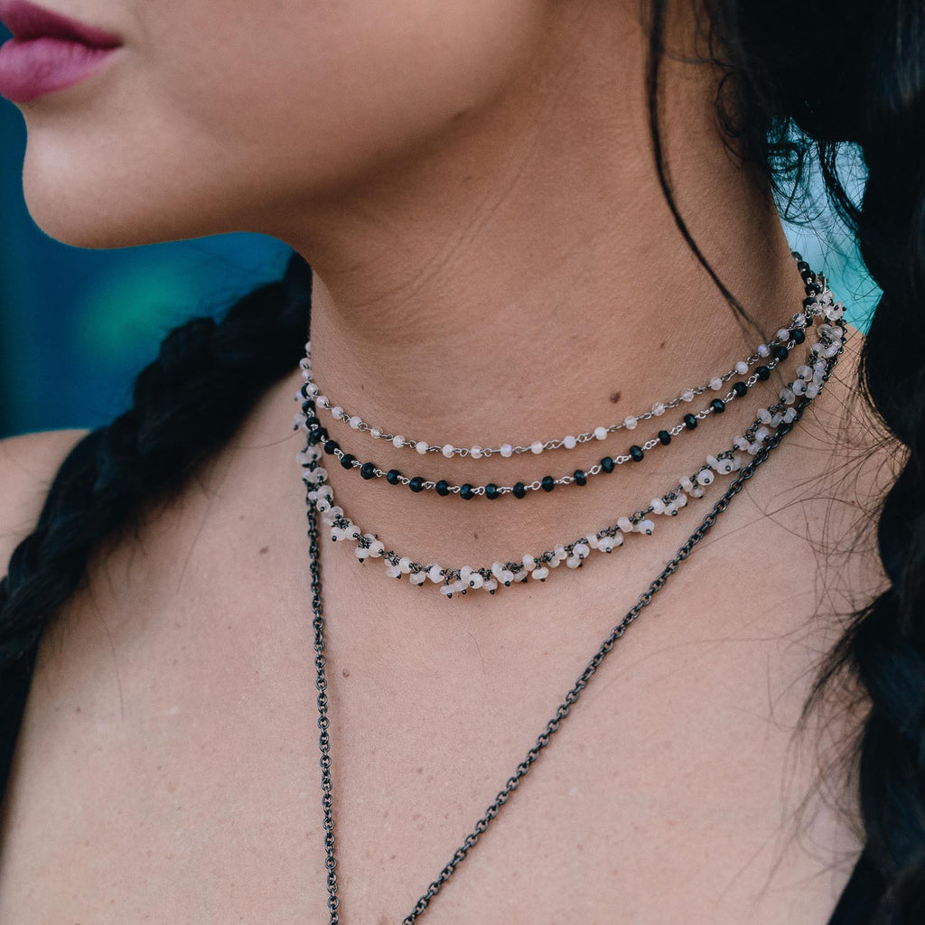 "The ""Moon Mother"" Rainbow Moonstone Choker"