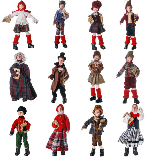 CX200 Set 12 Vintage Carolers 27-33 cm .