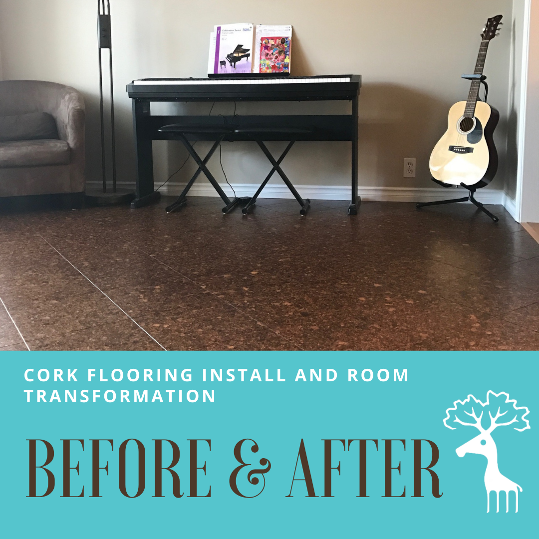 Before and After - Transforming a Space with Cork Flooring