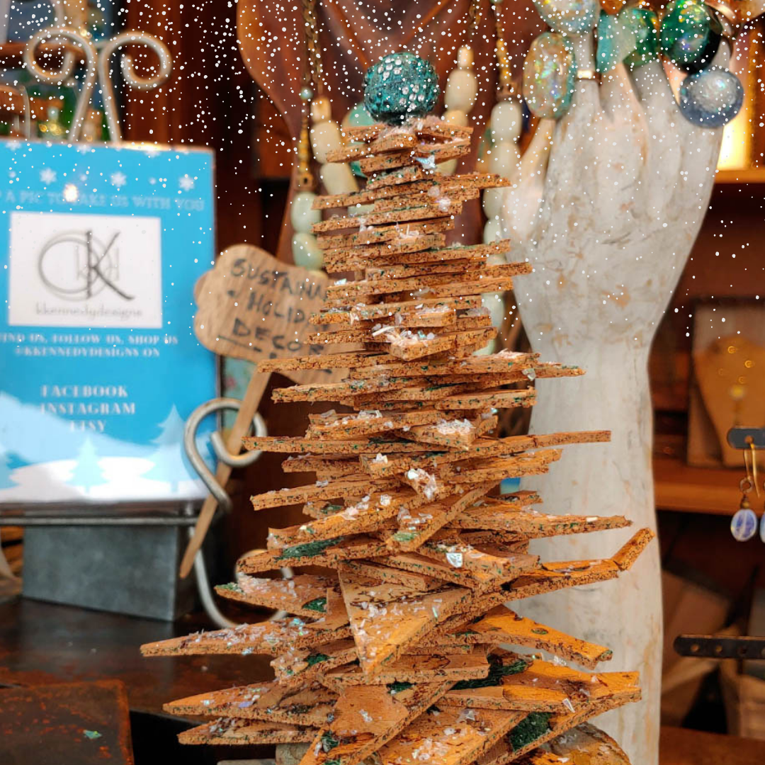 Crafty Thrifty Mini Cork Christmas Tree | Guest Blog KKennedy Designs