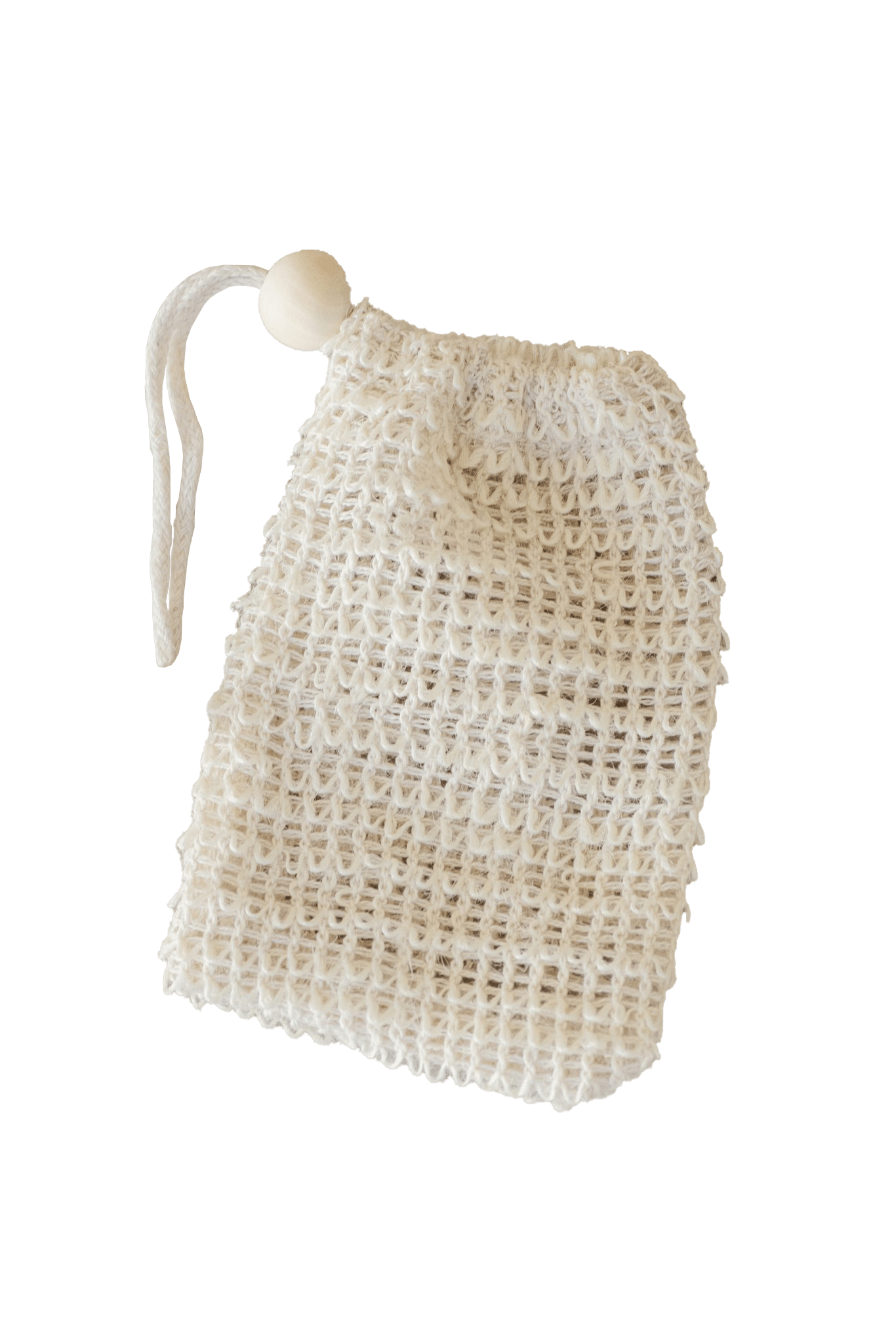 Agave Woven Soap Bag - Exfoliating Scrubber - Naturally Anti-Microbial Hypoallergenic Sustainable Eco-Friendly Cork