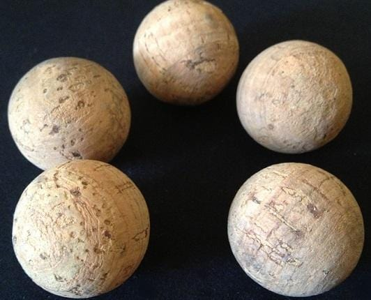 "Extra Large Cork Ball 2-1/4"" - Naturally Anti-Microbial Hypoallergenic Sustainable Eco-Friendly Cork"