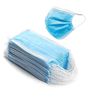 Face Masks - Single Use, Disposable, 3-Ply, Pack of 10