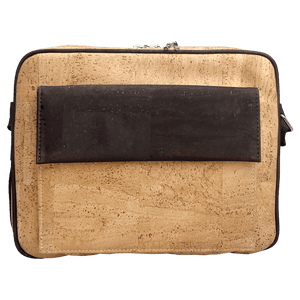 Laptop Bag with Front Pocket - Natural - Naturally Anti-Microbial Hypoallergenic Sustainable Eco-Friendly Cork