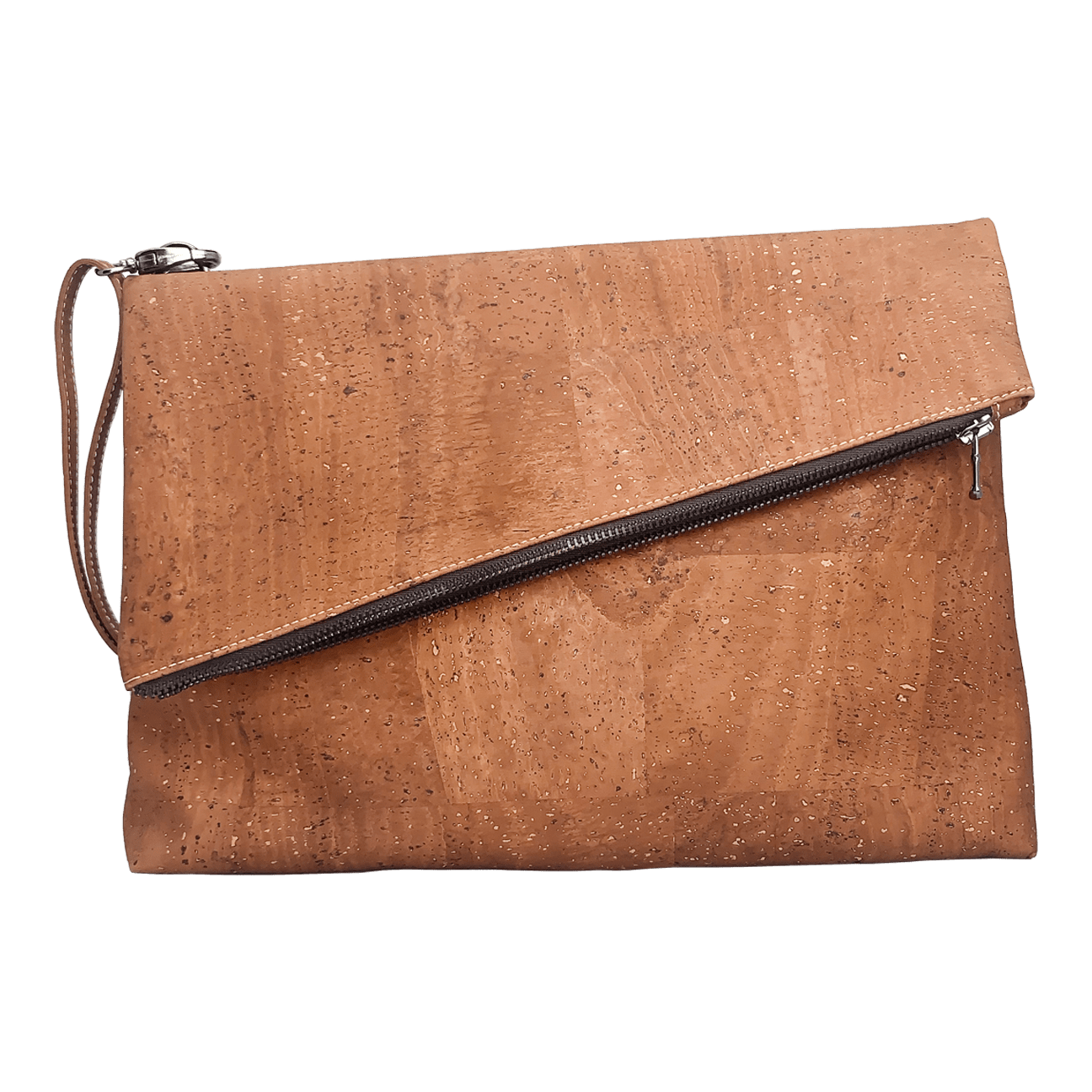 Large Diagonal Flap Crossbody Purse - Naturally Anti-Microbial Hypoallergenic Sustainable Eco-Friendly Cork