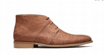 Men's Casual Cork Boot - Beige - Naturally Anti-Microbial Hypoallergenic Sustainable Eco-Friendly Cork