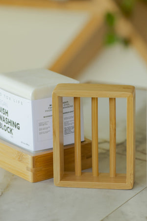 Moso Bamboo Soap Shelf - Naturally Anti-Microbial Hypoallergenic Sustainable Eco-Friendly Cork