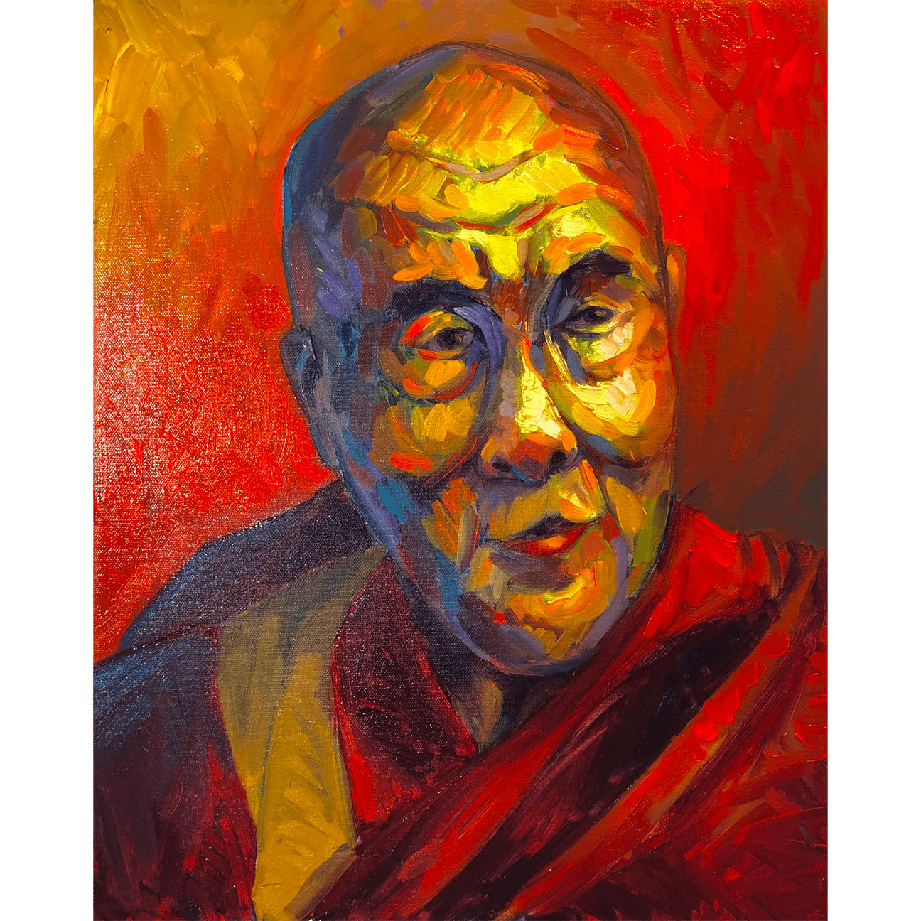 Portrait of the Dalai Lama Print | P. Zukof