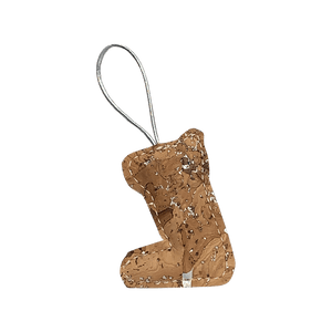 Put a glittering stocking on your tree. These Kenia ornaments contain a variety of browns and tans with hints of bright silver peeking through.