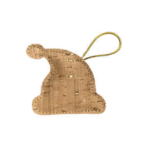 Highlight the simple beauty of your Christmas lights with this natural cork and gold Santa's hat.