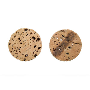 Natural Unvarnished Cork Crafting Discs – Pack of 10 - Naturally Anti-Microbial Hypoallergenic Sustainable Eco-Friendly Cork