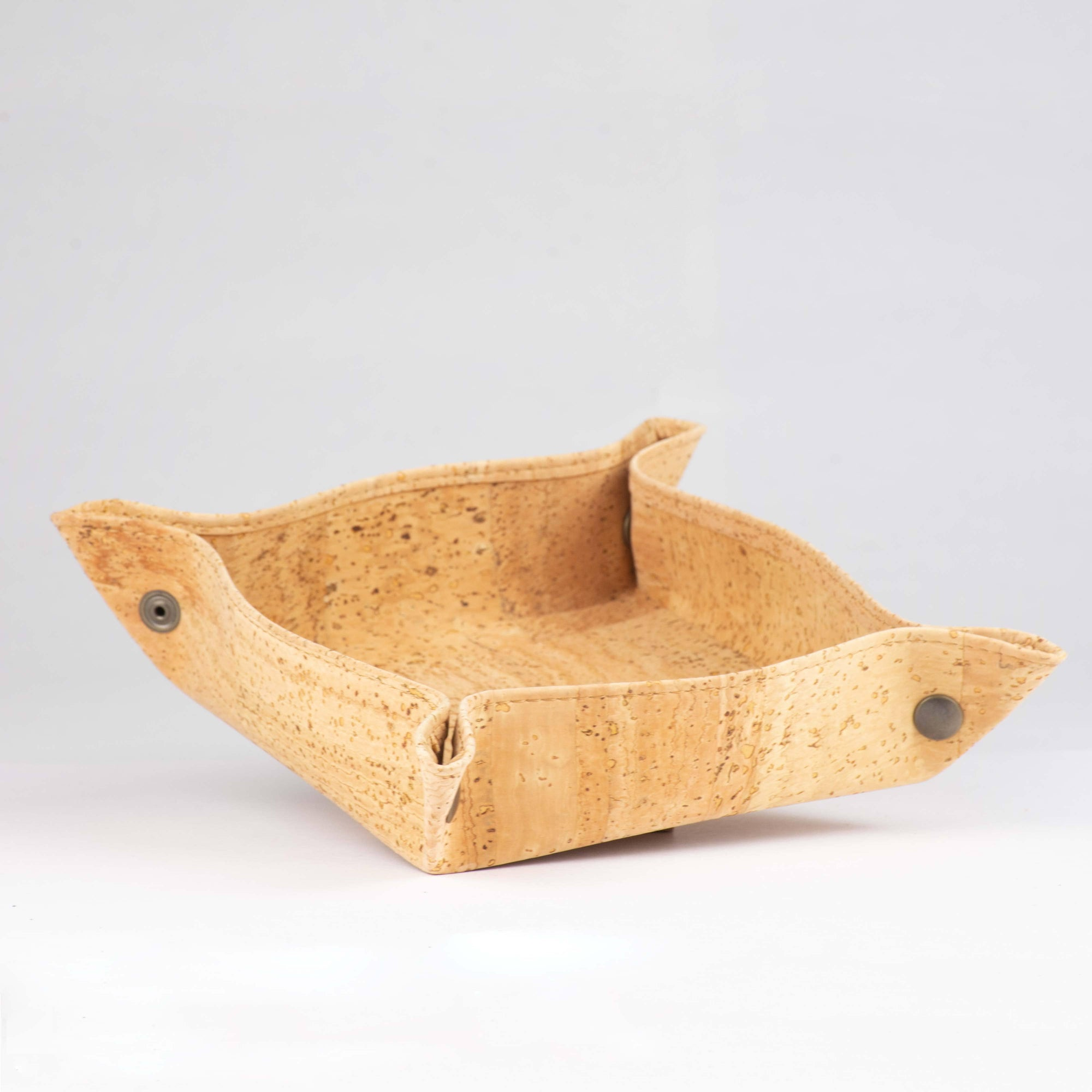 Cork Folding Tray / Catchall / Empty Pockets - Naturally Anti-Microbial Hypoallergenic Sustainable Eco-Friendly Cork
