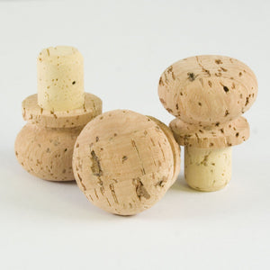 Cork Stopper with Rounded Cork Cap - Naturally Anti-Microbial Hypoallergenic Sustainable Eco-Friendly Cork