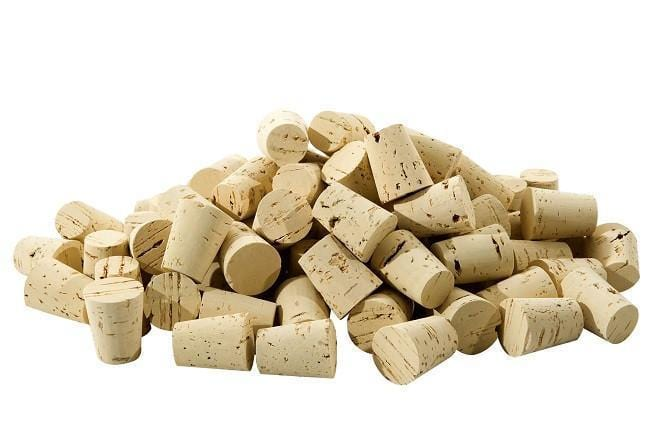 Tapered Cork Natural (Size RL08) - Bag of 20 - Naturally Anti-Microbial Hypoallergenic Sustainable Eco-Friendly Cork