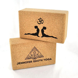 Make it Personal - Yoga Block - Naturally Anti-Microbial Hypoallergenic Sustainable Eco-Friendly Cork