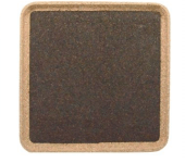 Square Tray - Black - Naturally Anti-Microbial Hypoallergenic Sustainable Eco-Friendly Cork