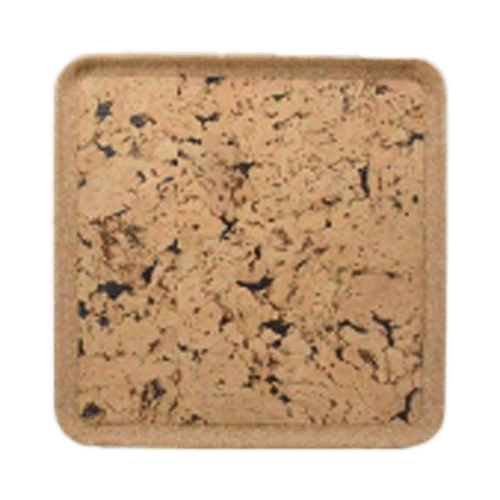 The Cork House accent pieces Square Tray - Fjord Black