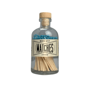 Aqua Vintage Apothocary Matches - LARGE - Naturally Anti-Microbial Hypoallergenic Sustainable Eco-Friendly Cork