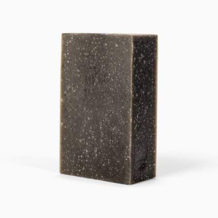 Organic Activated Charcoal + Tea Tree Bar Soap - Naturally Anti-Microbial Hypoallergenic Sustainable Eco-Friendly Cork