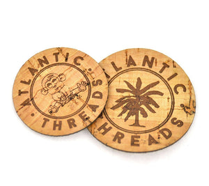 Cork Fabric Labels - Round - Naturally Anti-Microbial Hypoallergenic Sustainable Eco-Friendly Cork