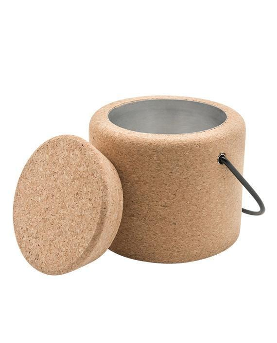 Cork Ice Bucket - Naturally Anti-Microbial Hypoallergenic Sustainable Eco-Friendly Cork