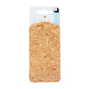Cork Luggage Tag - Naturally Anti-Microbial Hypoallergenic Sustainable Eco-Friendly Cork