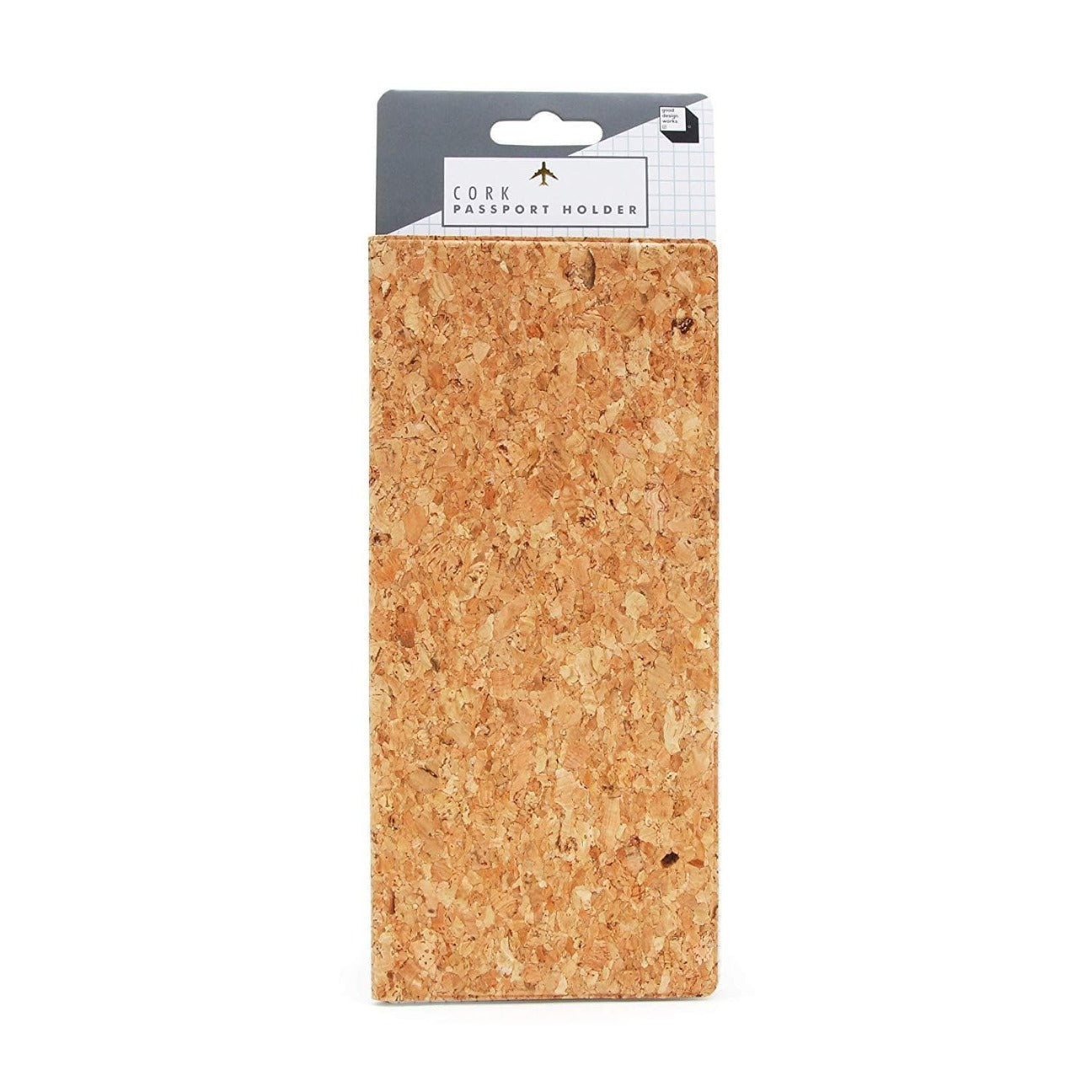 Cork Passport Holder - LARGE - Naturally Anti-Microbial Hypoallergenic Sustainable Eco-Friendly Cork
