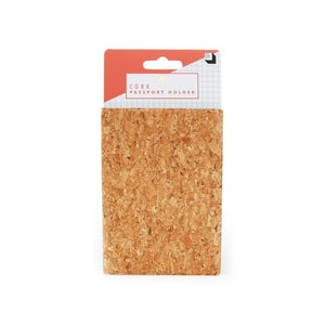 Cork Passport Holder - SMALL - Naturally Anti-Microbial Hypoallergenic Sustainable Eco-Friendly Cork
