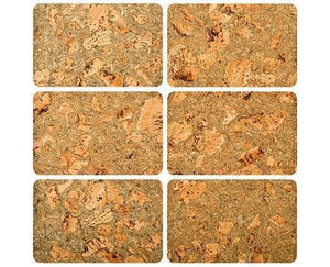 Corkstone Cork Placemats - Set of 6 - Naturally Anti-Microbial Hypoallergenic Sustainable Eco-Friendly Cork