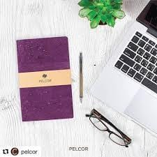 Daily Cork Notebook - Plum Color - Naturally Anti-Microbial Hypoallergenic Sustainable Eco-Friendly Cork