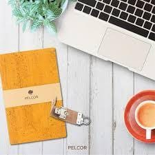 Daily Cork Notebook - Sunflower Color - Naturally Anti-Microbial Hypoallergenic Sustainable Eco-Friendly Cork
