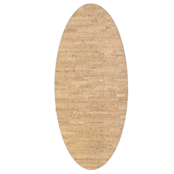 "Decorative Cork Veneer Oval Board 36"" x 16"" - Naturally Anti-Microbial Hypoallergenic Sustainable Eco-Friendly Cork"