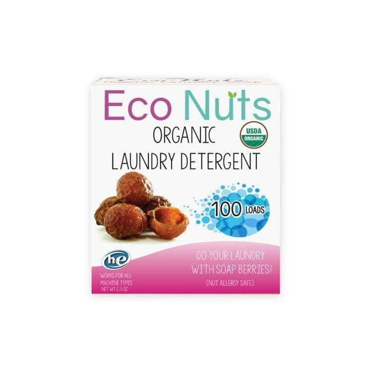 EcoNuts - Organic Soap Nuts Laundry Detergent, 100 Loads - Naturally Anti-Microbial Hypoallergenic Sustainable Eco-Friendly Cork