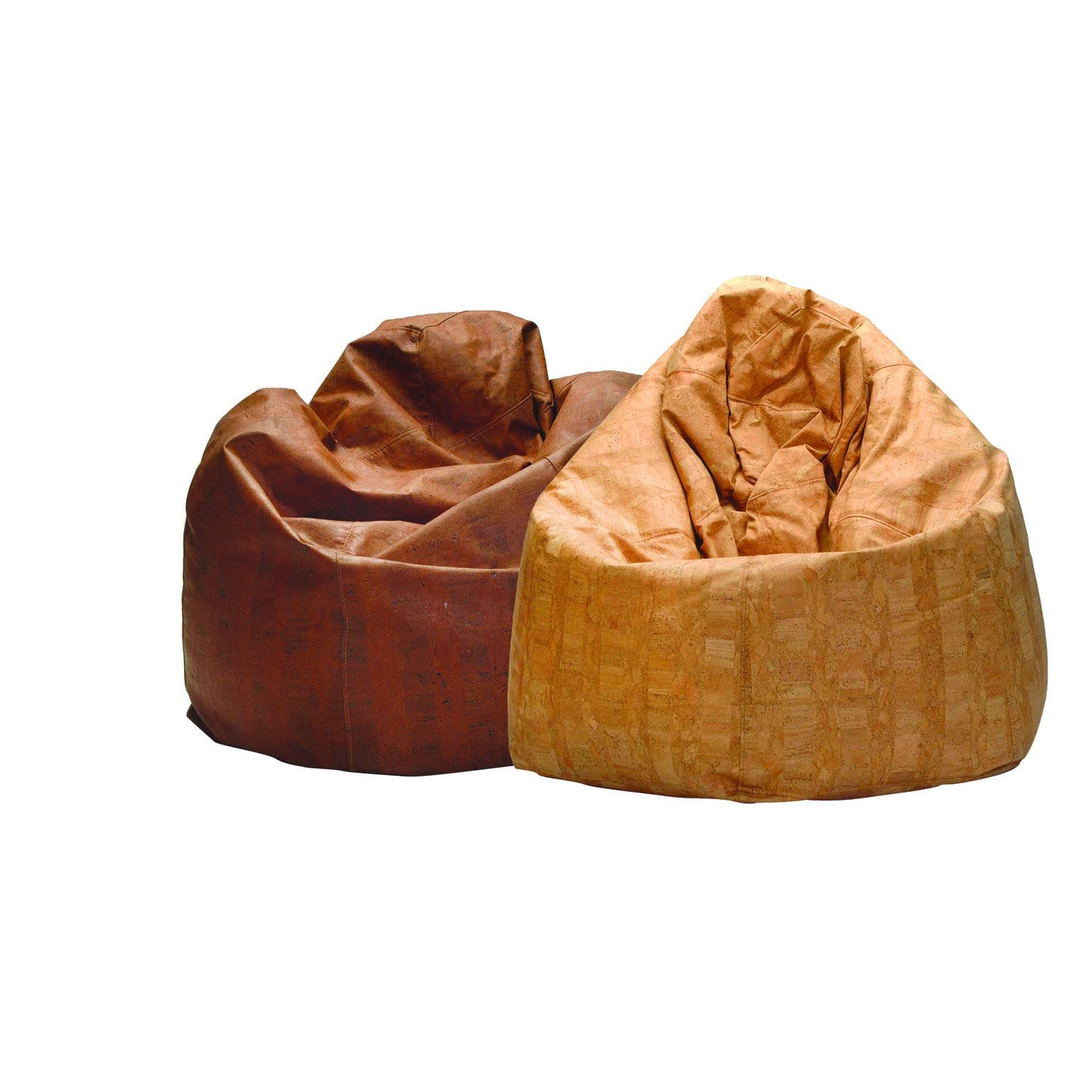 Big Pear Pouffe - Cork Beanbag Chair - Brown - Naturally Anti-Microbial Hypoallergenic Sustainable Eco-Friendly Cork