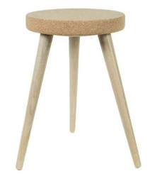 Cork Tripod Stool - Naturally Anti-Microbial Hypoallergenic Sustainable Eco-Friendly Cork