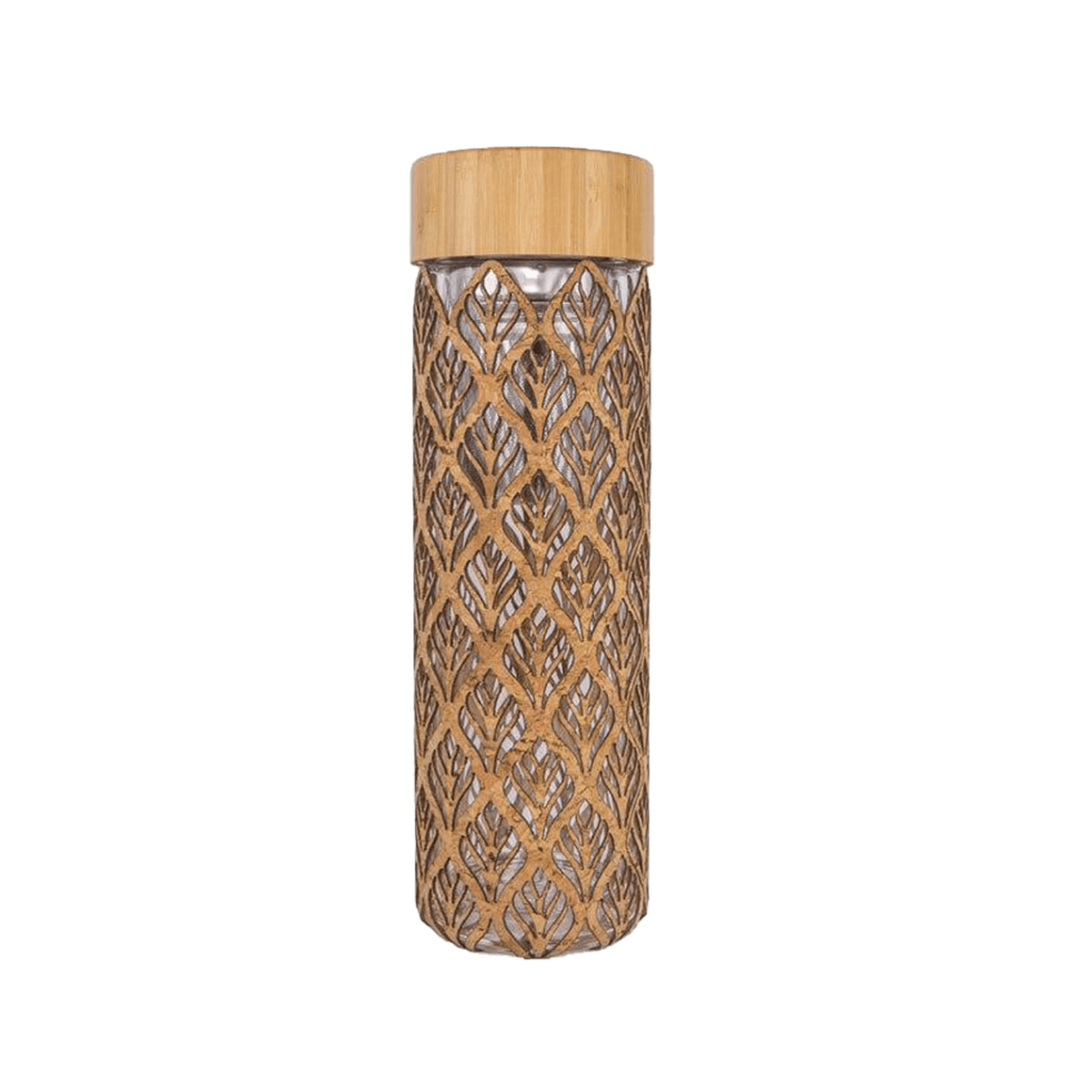 Glass Tea Infuser - Leaf - Naturally Anti-Microbial Hypoallergenic Sustainable Eco-Friendly Cork