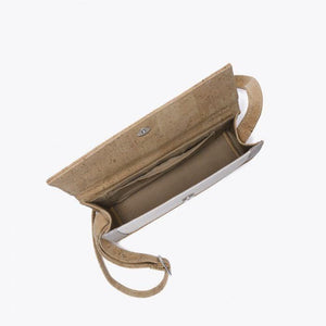 Artelusa Small Bag - Grey/White/Beige - Naturally Anti-Microbial Hypoallergenic Sustainable Eco-Friendly Cork