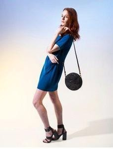 Circle Purse - Black & Gold Cork - Naturally Anti-Microbial Hypoallergenic Sustainable Eco-Friendly Cork