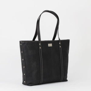 ROK Carminda Tote - Black - Naturally Anti-Microbial Hypoallergenic Sustainable Eco-Friendly Cork