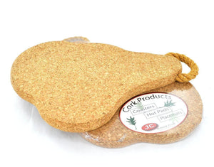 Ham Cork Hot Pad - Naturally Anti-Microbial Hypoallergenic Sustainable Eco-Friendly Cork