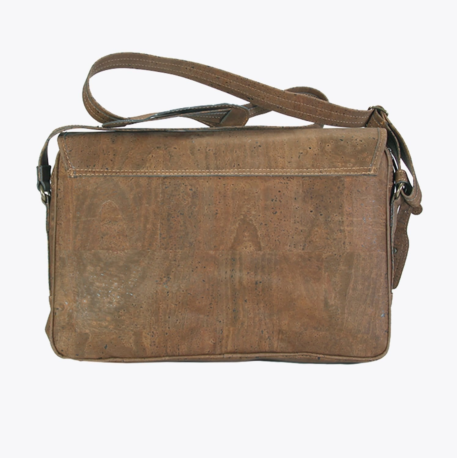 Laptop Bag Crossbody Briefcase - Chocolate Brown - Naturally Anti-Microbial Hypoallergenic Sustainable Eco-Friendly Cork