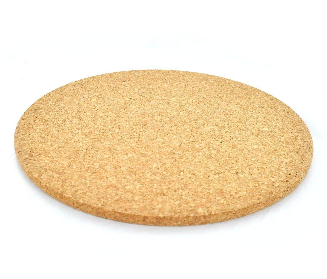 "Large Hot Pad - 12"" (Bundle of 2) - Naturally Anti-Microbial Hypoallergenic Sustainable Eco-Friendly Cork"