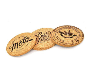 Make it Personal - Coasters - Naturally Anti-Microbial Hypoallergenic Sustainable Eco-Friendly Cork