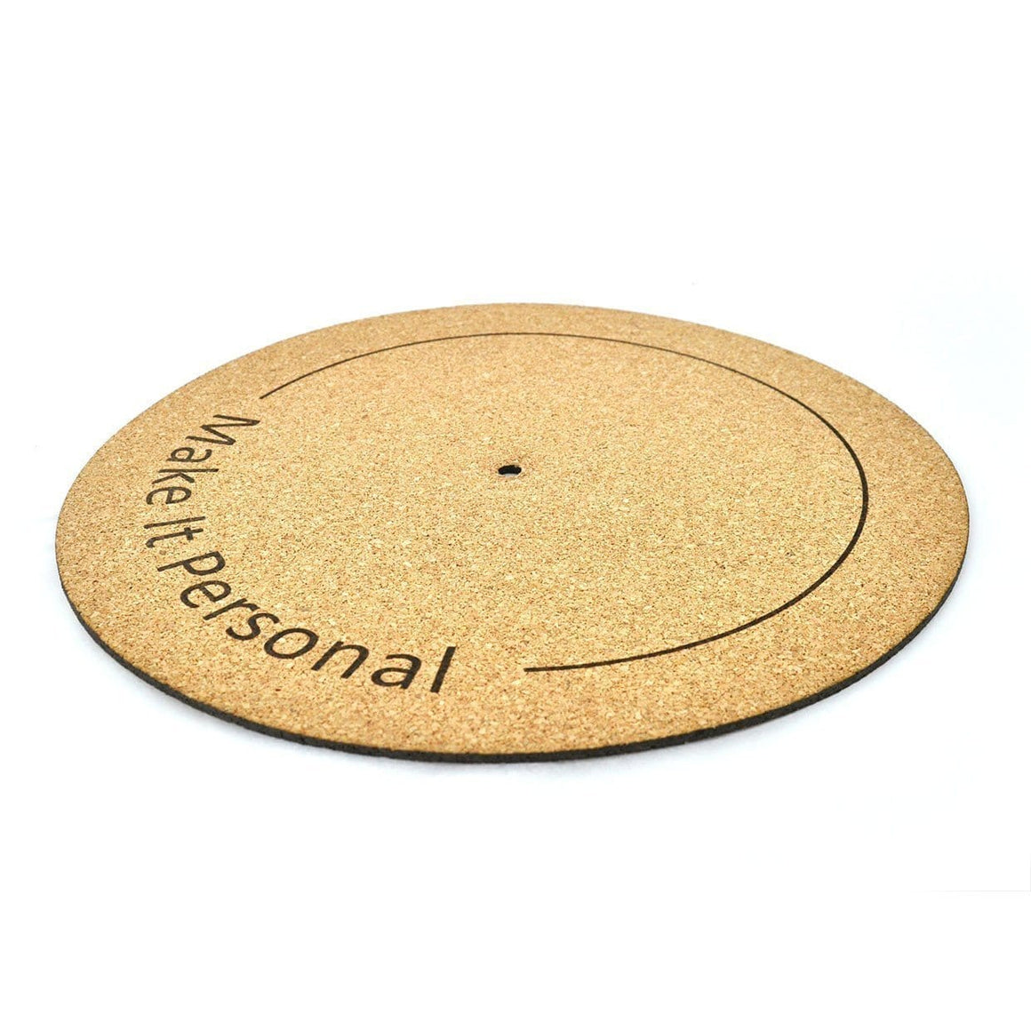 Make it Personal - Cork Turntable Mat - Naturally Anti-Microbial Hypoallergenic Sustainable Eco-Friendly Cork