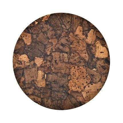 Midnight Cork Coasters - Set of 6 - Naturally Anti-Microbial Hypoallergenic Sustainable Eco-Friendly Cork
