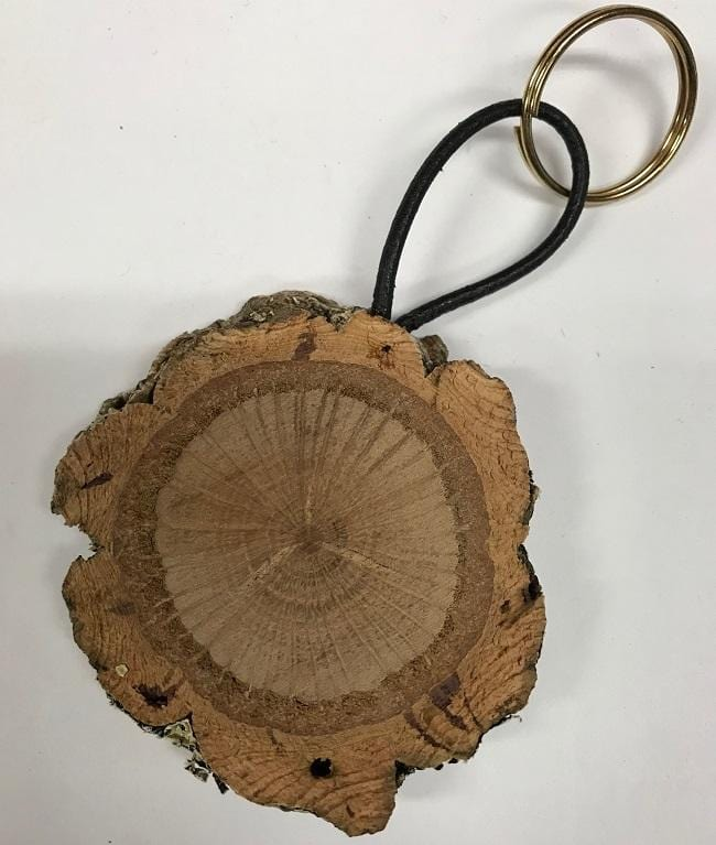 Natural Cork Wood Keychain - Naturally Anti-Microbial Hypoallergenic Sustainable Eco-Friendly Cork