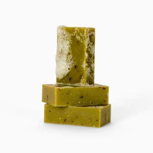 Organic Peppermint Bar Soap - Naturally Anti-Microbial Hypoallergenic Sustainable Eco-Friendly Cork