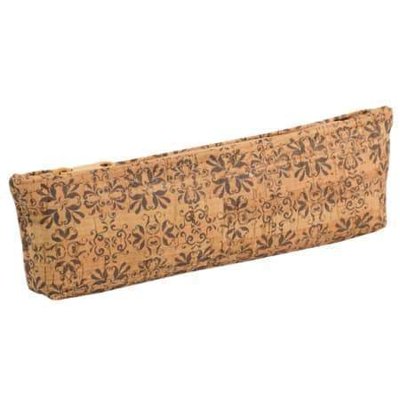 Pencil Case - Mammoth Tile Print - Naturally Anti-Microbial Hypoallergenic Sustainable Eco-Friendly Cork