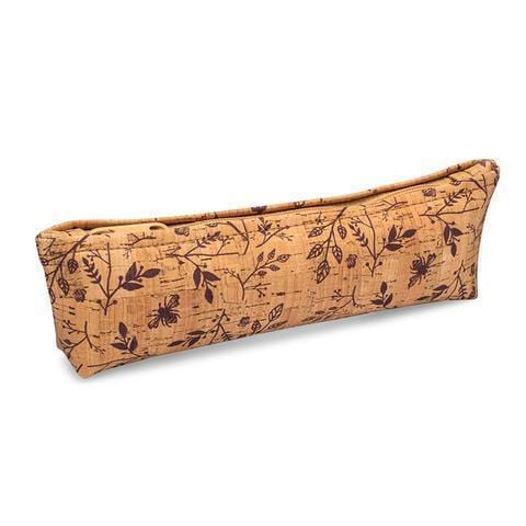 Pencil Case - Wine Floral Print - Naturally Anti-Microbial Hypoallergenic Sustainable Eco-Friendly Cork