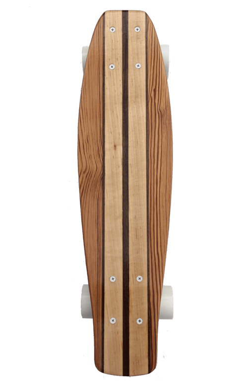 Reclaimed Wood Penny Skateboard - Naturally Anti-Microbial Hypoallergenic Sustainable Eco-Friendly Cork